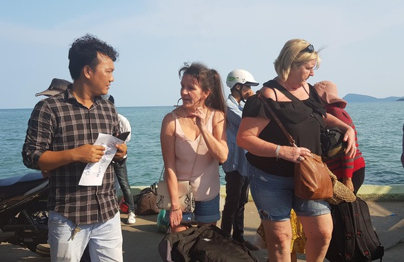 <em>Foreign visitors on Phu Quoc Island, Kien Giang Province, Vietnam. Photo: </em>Khanh Nam / Tuoi Tre